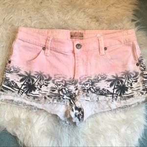 ROXY Patterned Denim Shorts